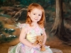 fairy in the wood on painted background