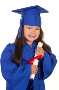 photo of pre school child's fun graduation
